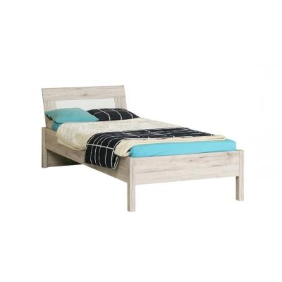 Dětská postel Sunny 90x200cm - dub pískový/bílý