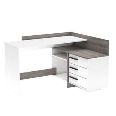 PC stůl L/P rohový - Bona - bílá/dub trufel prata