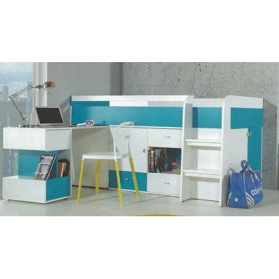 Dětská postel s psacím stolem Moli - výběr barev
