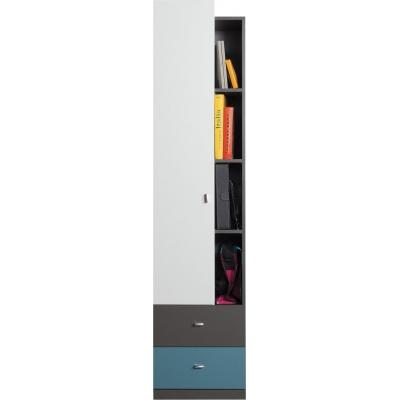 Regál Tonda 5 - atlantic/bílý/grafit