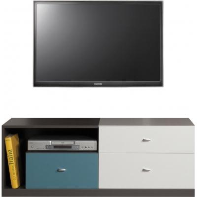 Televizní stolek Tonda - atlantic/bílý/grafit