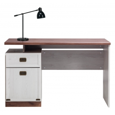 Studentský psací stůl Miki - dub/modřín sibiřský