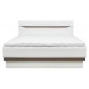 Manželská posteľ LAOS 180x200cm - dub sonoma truflový / biely lesk