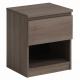 Noční stolek Doble - ořech stříbrný