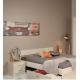 Studentská postel bez šuplíku General 140x190 - akácie