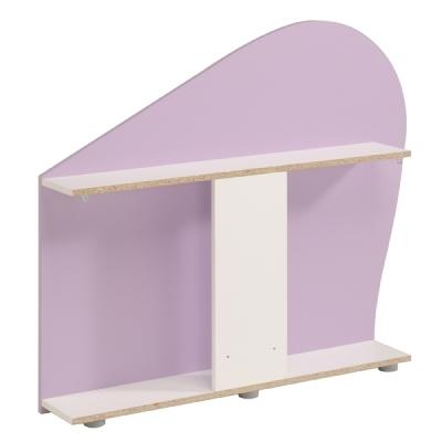 Nádstavec za dětskou postel Nisi - bílá/fialková