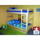 Rozkládací patrová postel TOM - buk