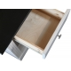Šatní skříň Moris 5D6S - bílá/tmavě hnědá