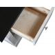 Šatní skříň Moris 5D6S - bílá/ hnědá