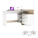 PC stůl L/P rohový - TALE dub sonoma/bílá