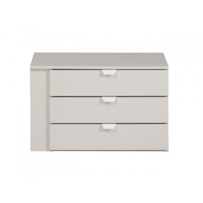 Komoda do šatní skříně Clea (3S) - světle šedá 301670