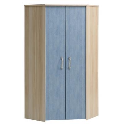 Dětská rohová šatní skříň Blau 080612