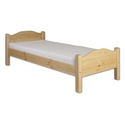 Levná postel z borovice 90x200 kom - KL-128