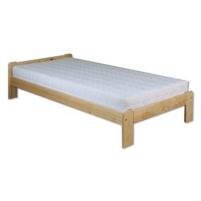 Levná postel z masivu borovice 90x200 cm kom - KL-123