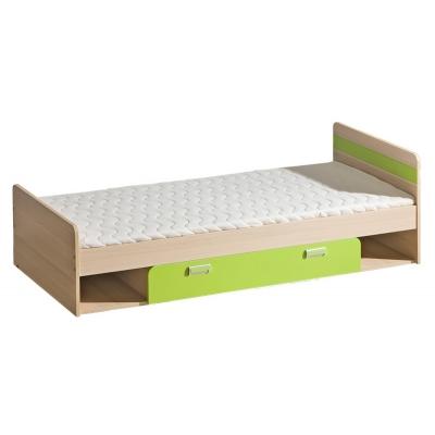 Dětská postel LIMO s úložným prostorem zelená