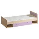 Dětská postel LIMO s úložným prostorem fialová