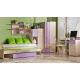 Dětská postel s přistýlkou fialová