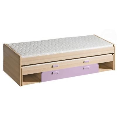 Dětská postel s přistýlkou LIMO fialová 082171