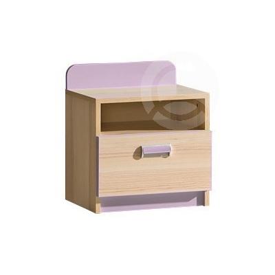 Dětský noční stolek LIMO fialový