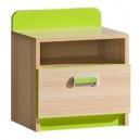 Dětský noční stolek LIMO zelený