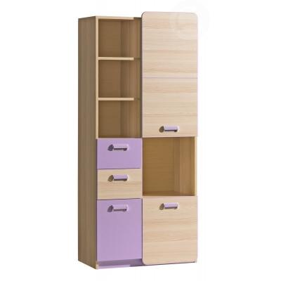 Dětská skříňka LIMO L7 fialová