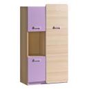Dětská skříňka LIMO L5 fialová