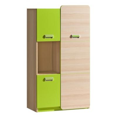 Dětská skříňka LIMO L5 zelená