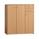 Dětská skříňka MANO II,  3 dveřová se 2 zásuvkami