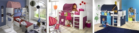 Dětské patrové postele sestava DASH